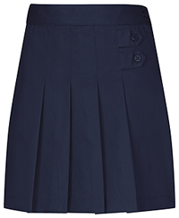 Classroom Uniforms Girls Stretch Pleated Tab Scooter Dark Navy (55121AZ-DNVY)