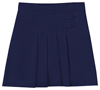 Classroom Uniforms Girls Stretch Pleated Tab Scooter Dark Navy (55122AZ-DNVY)