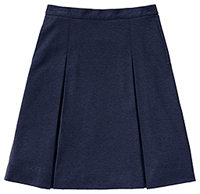 Classroom Uniforms Girls Ponte Knit Kick Pleat Skirt Dark Navy (55403AZ-DNVY)