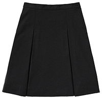Classroom Uniforms Juniors Ponte Knit Kick Pleat Skirt Black (55404Z-BLK)