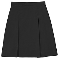 Classroom Uniforms Longer Length Kick Pleat Skirt Black (55792A-BLK)