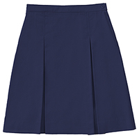 Classroom Uniforms Longer Length Kick Pleat Skirt Dark Navy (55792A-DNVY)