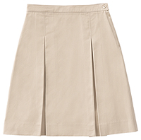 Classroom Uniforms Girls Plus Kick Pleat Skirt Khaki (55794-KAK)