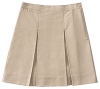 Classroom Uniforms Girls Plus Kick Pleat Skirt Khaki (55863-KAK)