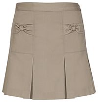 Classroom Uniforms Preschool Girls Bow Pocket Scooter Khaki (55980-KAK)