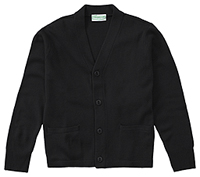 Classroom Uniforms Adult Unisex Cardigan Sweater Black (56434-BLK)