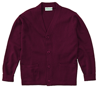 Classroom Uniforms Adult Unisex Cardigan Sweater Burgundy (56434-BUR)
