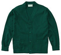 Classroom Uniforms Adult Unisex Cardigan Sweater Hunter Green (56434-HUN)