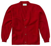 Adult Unisex Cardigan Sweater (56434-RED)