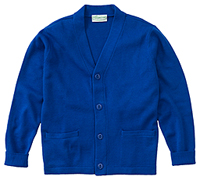 Classroom Uniforms Adult Unisex Cardigan Sweater Royal (56434-ROY)