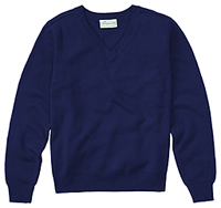 Classroom Uniforms Adult Unisex Long Sleeve V-Neck Sweater Dark Navy (56704-DNVY)