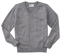 Classroom Uniforms Adult Unisex Long Sleeve V-Neck Sweater Heather Gray (56704-HGRY)