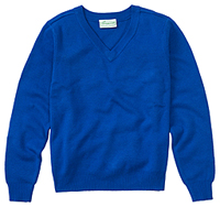Classroom Uniforms Adult Unisex Long Sleeve V-Neck Sweater Royal (56704-ROY)