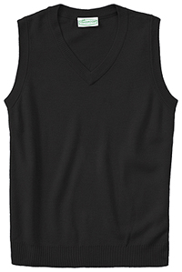 Adult Unisex V-Neck Sweater Vest (56914-BLK)