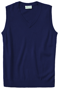Classroom Uniforms Adult Unisex V-Neck Sweater Vest Dark Navy (56914-DNVY)