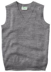 Classroom Adult Unisex V-Neck Sweater Vest (56914-HGRY) (56914-HGRY)