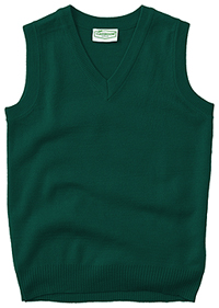 Classroom Uniforms Adult Unisex V-Neck Sweater Vest Hunter (56914-HUN)