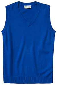 Classroom Adult Unisex V-Neck Sweater Vest (56914-ROY) (56914-ROY)