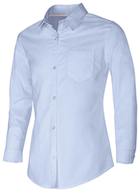 Classroom Uniforms Girls Long Sleeve Oxford Shirt Light Blue (57512-LTB)