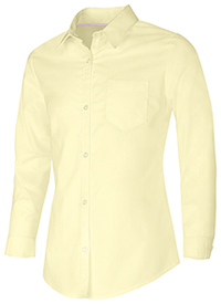 Classroom Girls Long Sleeve Oxford Shirt (57512-YEL) (57512-YEL)