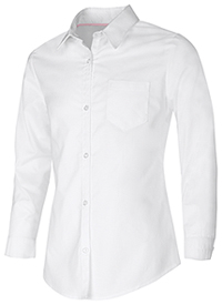 Classroom Uniforms Junior Long Sleeve Oxford Shirt White (57514-WHT)