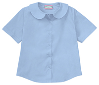 Classroom Uniforms Juniors Short Sleeve Peter Pan Blouse Blue (57554-BLUU)