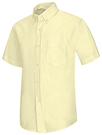 Classroom Uniforms Boys Short Sleeve Oxford Shirt Yellow (57601-YEL)