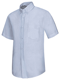 Classroom Uniforms Men's Short Sleeve Oxford Shirt Light Blue (57604-LTB)