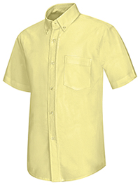 Classroom Uniforms Men's Short Sleeve Oxford Shirt Yellow (57604-YEL)