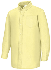 Classroom Uniforms Boys Long Sleeve Oxford Shirt Yellow (57652-YEL)