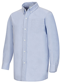 Classroom Uniforms Boys Husky L/S Oxford Shirt Light Blue (57653-LTB)