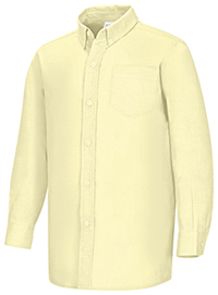 Classroom Uniforms Boys Husky L/S Oxford Shirt Yellow (57653-YEL)