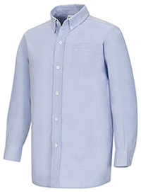 Classroom Men's Long Sleeve Oxford Shirt (57654-LTB) (57654-LTB)