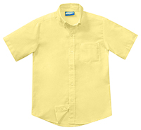 Classroom Uniforms Boys Husky Short Sleeve Oxford Yellow (57663-YEL)