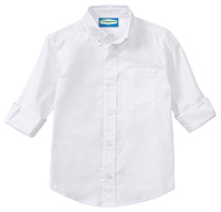 Classroom Boys Long Sleeve Husky Oxford (57673-WHT) (57673-WHT)