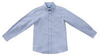 Classroom Men's Long Sleeve Oxford (57674-LTB) (57674-LTB)