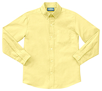 Classroom Uniforms Men's Long Sleeve Oxford Yellow (57674-YEL)