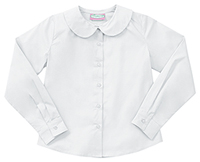 Classroom Uniforms Junior LS Peter Pan Blouse White (57884-WHT)