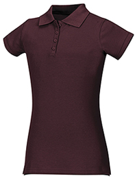 Classroom Uniforms Girls Stretch Pique Polo Burgundy (58222-BUR)