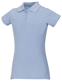 Classroom Girls Stretch Pique Polo (58222-LTB) (58222-LTB)