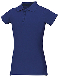 Classroom Uniforms Girls Stretch Pique Polo Royal (58222-ROY)
