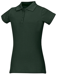 Classroom Uniforms Girls Stretch Pique Polo SS Hunter Green (58222-SSHN)