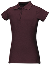 Classroom Uniforms Junior Stretch Pique Polo Burgundy (58224-BUR)