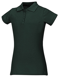 Classroom Uniforms Junior Stretch Pique Polo Hunter Green (58224-HUN)
