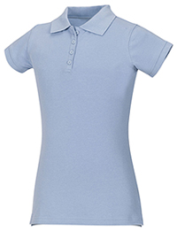 Classroom Uniforms Junior Stretch Pique Polo Light Blue (58224-LTB)