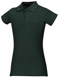 Classroom Uniforms Junior Stretch Pique Polo SS Hunter Green (58224-SSHN)