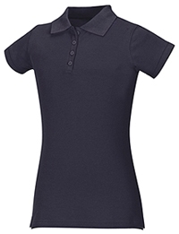 Classroom Uniforms Junior Stretch Pique Polo SS Navy (58224-SSNV)