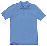 Classroom Uniforms Youth Unisex Short Sleeve Pique Polo Columbia Blue (58322-CMBL)