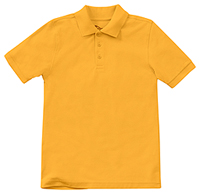 Classroom Youth Unisex Short Sleeve Pique Polo (58322-GOLD) (58322-GOLD)