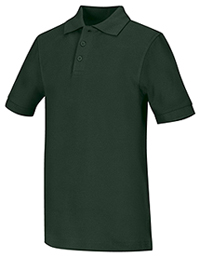 Classroom Uniforms Youth Unisex Short Sleeve Pique Polo Hunter Green (58322-HUN)